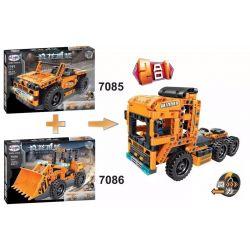 Winner 7085 Xếp hình kiểu Lego TECHNIC Jeep Xe Jeep Lùi 200 khối có động cơ kéo thả