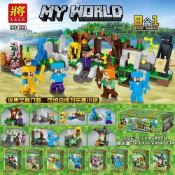 LELE 33133 33133-1 33133-2 33133-3 33133-4 33133-5 33133-6 33133-7 33133-8 Xếp hình kiểu Lego MINECRAFT MY WORLD 8in1 My World Human Small Scene 8 8 In 1 Minifigures 8 Kiểu 8 Trong 1 gồm 8 hộp nhỏ 286