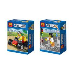 LELE 28002 Xếp hình kiểu Lego CITY Policemen Human Jar Carrier 8 Models 8 Xe Cấu Hình Nhỏ