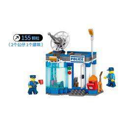 LELE 28005 28005-1 28005-2 Xếp hình kiểu Lego CITY Policemen The Thrilling Police Captured The Battle, Anti-guiding System Air Defense Radar 2 Cảnh Sát Ly Kỳ Và Trận địa Bắt Cướp, Hệ Thống Chống Tên L