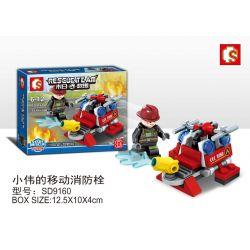 SEMBO SD9160 9160 Xếp hình kiểu Lego RESCUE TEAM Doomsday Rescue Xiaowei's Mobile Fire Hydrant Trụ Cứu Hỏa Di động Của Xiaowei 55 khối