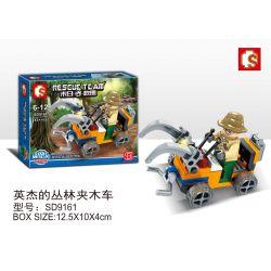 SEMBO SD9161 9161 Xếp hình kiểu Lego RESCUE TEAM Doomsday Rescue English Jungle Clips Yingjie's Jungle Trolley Giải Cứu Ngày Tận Thế Yingjie's Jungle Trolley 43 khối
