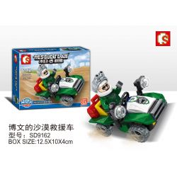 SEMBO SD9162 9162 Xếp hình kiểu Lego RESCUE TEAM Doomsday Rescue Bo Wen's Desert Rescue Vehicle Xe Cứu Hộ Sa Mạc Của Bowen 42 khối