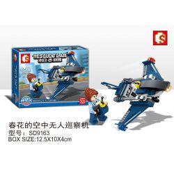 SEMBO SD9163 9163 Xếp hình kiểu Lego RESCUE TEAM Doomsday Rescue Spring Flower Air Unmanned Inspection Machine Máy Bay Không Người Lái Của Chunhua 42 khối