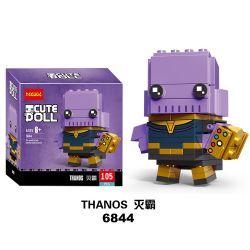 NOT Lego BRICKHEADZ 41605 Thanos Fangtu , Decool 6844 Jisi 6844 Xếp hình Θάνος 105 khối
