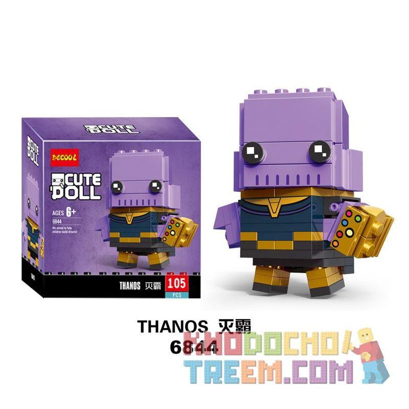 Decool 6844 Jisi 6844 Xếp hình kiểu Lego BRICKHEADZ Thanos Fangtu Θάνος 105 khối