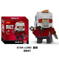 Decool 6841 Jisi 6841 Xếp hình kiểu Lego BRICKHEADZ Star-Lord Fang Zhai Parke Chúa Tể Các Vì Sao 113 khối
