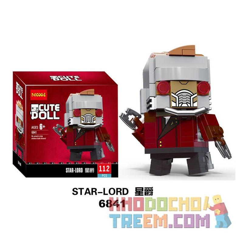 NOT Lego BRICKHEADZ 41606 Star-Lord Fang Zhai Parke , Decool 6841 Jisi 6841 Xếp hình Chúa Tể Các Vì Sao 113 khối