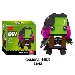 Decool 6842 Jisi 6842 Xếp hình kiểu Lego BRICKHEADZ Gamora Fangtai Card Gamora 136 khối