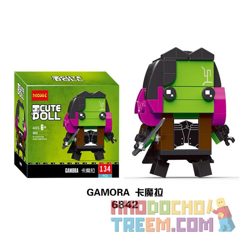 NOT Lego BRICKHEADZ 41607 Gamora Fangtai Card , Decool 6842 Jisi 6842 Xếp hình Gamora 136 khối