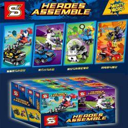 SHENG YUAN SY SY1015D 1015D Xếp hình kiểu Lego SUPER HEROES Heores Assemble Mighty Micros Mini Tank Flash And Catwoman Flash Và Catwoman 112 khối
