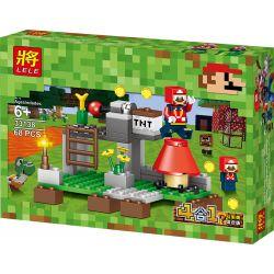 LELE 33138 33138-1 33138-2 33138-3 33138-4 Xếp hình kiểu Lego MINECRAFT Super Mario 4 Scenery Edition Phiên Bản Kết Hợp Cảnh Super Mario 4 gồm 4 hộp nhỏ 274 khối