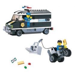 Enlighten 127 Qman 127 Xếp hình kiểu Lego WORLD CITY Armoured Car Action Police And Rescue Bill Of Money Hành động Trên ô Tô Bọc Thép 181 khối