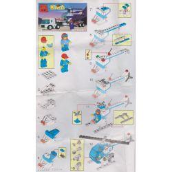 Enlighten 104 Qman 104 Xếp hình kiểu Lego TOWN Launch Response Unit Transmition Command Space Service Helicopter Transportator Khởi Chạy đơn Vị Phản Hồi 185 khối