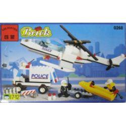Enlighten 0268 Qman 0268 Xếp hình kiểu Lego TOWN Search N' Rescue Police Air Police Team Tìm Kiếm N 'Rescue 286 khối