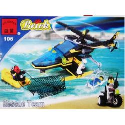 Enlighten 106 Qman 106 Xếp hình kiểu Lego TOWN Aerial Recovery RES-Q Rescue Helicopter Phục Hồi Trên Không 194 khối