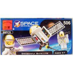 Enlighten 506 Qman 506 Xếp hình kiểu Lego TOWN Satellite With Astronaut Space Station Space Man And Artificial Satellite Vệ Tinh Với Phi Hành Gia 32 khối