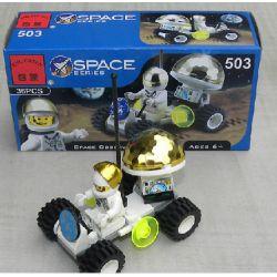 Enlighten 503 Qman 503 Xếp hình kiểu Lego TOWN Lunar Rover Space Station Moon Lunar Rover 36 khối