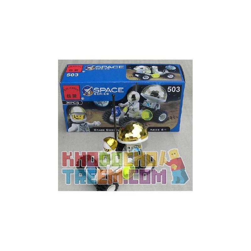 NOT Lego TOWN 6463 Lunar Rover, Enlighten 503 Qman 503 KEEPPLEY 503 Xếp hình Lunar rover 36 khối