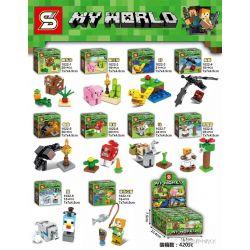 MG 132 SHENG YUAN SY 1022 1022-1 1022-10 1022-2 1022-3 1022-4 1022-5 1022-6 1022-7 1022-8 1022-9 Xếp hình kiểu Lego MINECRAFT MY WORLD Animal People 10 10 Nhân Vật Nhỏ động Vật gồm 10 hộp nhỏ 221 khối