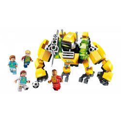 Enlighten 3001 Qman 3001 Xếp hình kiểu Lego TRANSFORMERS Super Soccer Century Football Guarding Zone Bảo Vệ Khu Vực Cấm 147 khối