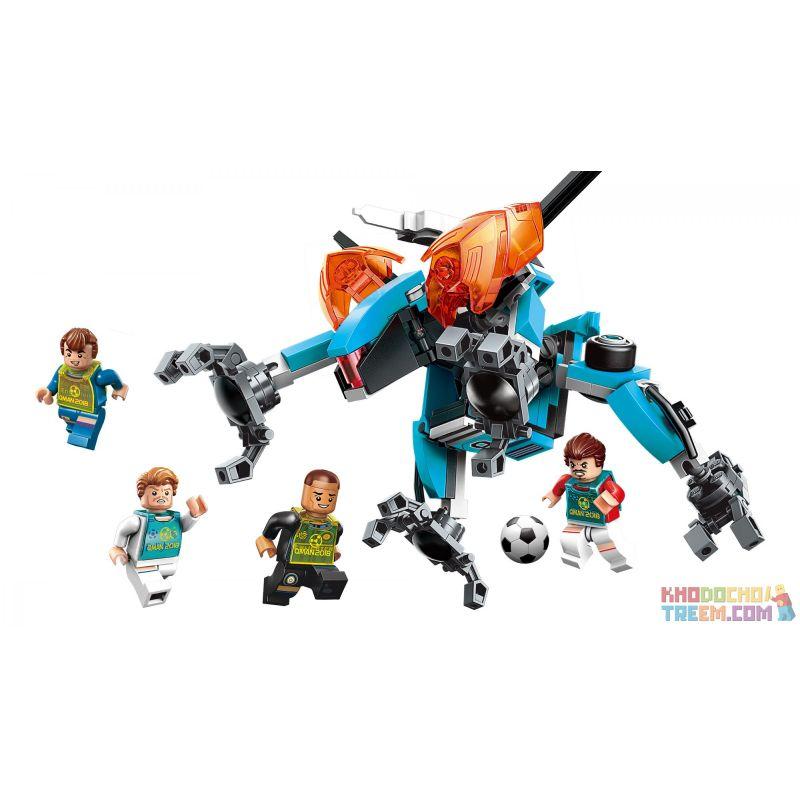 Enlighten 3002 Qman 3002 Xếp hình kiểu Lego TRANSFORMERS Super Soccer Century Football Tear Open Line Xé Bỏ Hàng Phòng Thủ 155 khối