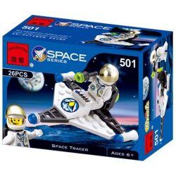 Enlighten 501 Qman 501 Xếp hình kiểu Lego SPACE Droid Scout Space Exploration Reconnaissance Robot Droid Scout 23 khối