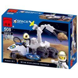 Enlighten 508 Qman 508 Xếp hình kiểu Lego SPACE Alien Fossilizer Space Exploration Geological Probe Người Ngoài Hành Tinh Hóa Thạch 53 khối