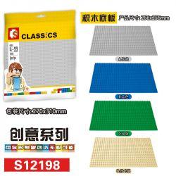 NOT Lego CLASSIC 10714 620-3 627 819 9286 Blue Baseplate Building Plate, Blue Blue Building Plate Blue Baseplate Building Plates Set, SEMBO 12198 Xếp hình Tấm xây dựng tấm đế màu xanh lam, Tấm toà nhà