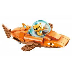 Enlighten 3701 Qman 3701 Xếp hình kiểu Lego OCTONAUTS Seabed Small Column Tiger Shark Cá Mập Hổ 113 khối