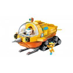 Enlighten 3704 Qman 3704 Xếp hình kiểu Lego OCTONAUTS Seabed Small Column Unicorn Thuyền Kỳ Lân Biển 275 khối