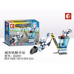 SHENG YUAN SY 602001 Xếp hình kiểu Lego FUTURE POLICE Dragon Anger City Duty Card Station Trạm Thẻ Thành Phố 68 khối