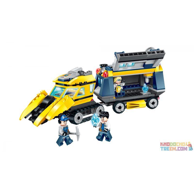 Enlighten 2406 Qman 2406 Xếp hình kiểu Lego KYANITE SQUAD Kyanite Squad Laboratory Rv Slim Squad Pioneer Detector Máy Dò Tiên Phong 291 khối