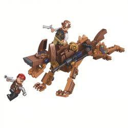 Winner 8042 Xếp hình kiểu Lego THE AGE OF STEAM SteamAge The Steam Gog Steampunk Era Steampunk Dog Chó Steampunk 152 khối