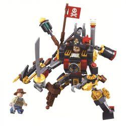 Winner 8040 Xếp hình kiểu Lego THE AGE OF STEAM SteamAge The Steam Warrior Steampunk Era Steam Dare To Die Warrior Chiến Binh Hơi Nước 198 khối
