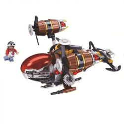 Winner 8046 Xếp hình kiểu Lego THE AGE OF STEAM SteamAge The Steam Fighter Steampunk Era Airship Phi Thuyền 237 khối