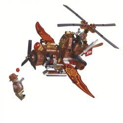 Winner 8047 Xếp hình kiểu Lego THE AGE OF STEAM SteamAge The Steam Helicopter Steampunk Era Trực Thăng Hơi Nước 238 khối