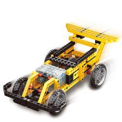 WANGE DR.LUCK 1401 Xếp hình kiểu Lego MINDSTORMS Power Machinsry Speed Car、Street Sweeper、Telescopic Pliers、Basketball Frame Power Machinery Variable Speed, Cleaning Car, Telescopic Clamp, Basketball