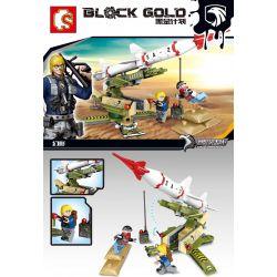 SEMBO 11628 Xếp hình kiểu Lego BLACK GOLD Black Plan Destroy Missile Tên Lửa Phá Hoại 145 khối
