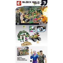SEMBO 11631 Xếp hình kiểu Lego BLACK GOLD Black Plan Base Negotiation Thương Lượng Cơ Sở 137 khối