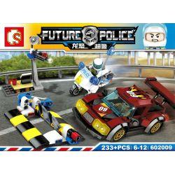 SHENG YUAN SY 602009 Xếp hình kiểu Lego FUTURE POLICE Dragon Anger Road Block Intercepting Car Party Khối đường Chặn Xe 233 khối