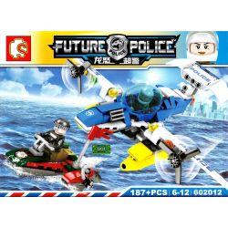 SHENG YUAN SY 602012 Xếp hình kiểu Lego FUTURE POLICE Dragon Anger Sea Area Chase Rượt đuổi Trên Biển 187 khối