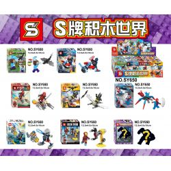 SHENG YUAN SY SY650 Xếp hình kiểu Lego COLLECTABLE MINIFIGURES Mr. 8 8 Nhân Vật Nhỏ Hỗn Hợp
