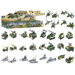 Kazi KY84053 84053 Xếp hình kiểu Lego FIELD ARMY Field Troops 16 Models 16 Xe Tăng