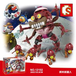 SHENG YUAN SY 12102 Xếp hình kiểu Lego SMESHARIKI Nanorobot 237 khối
