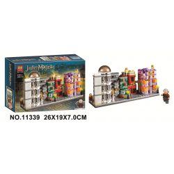 LARI 11339 Xếp hình kiểu Lego HARRY POTTER Diagon Alley Magic World Harry Potter Diagonal Lane Mini Street View Lôi đi Cheo 374 khối