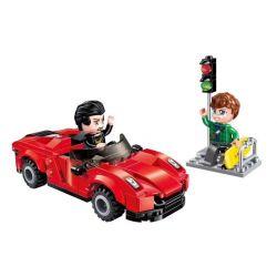 Enlighten 1131 Qman 1131 Xếp hình kiểu Lego ColorfulCity Colorful City Magic Sports Car Xe Thể Thao Ma Thuật 158 khối