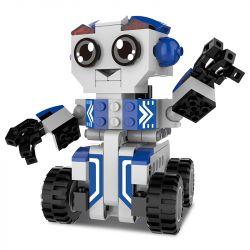 DOUBLEE CADA C52018 52018 Xếp hình kiểu Lego MINI RACING PACEMAKER Bobby Robot Backbox Robot BOBBY Kéo Xe Lại 195 khối