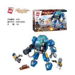 Enlighten 2702 Qman 2702 Xếp hình kiểu Lego THE HIGH-TECH ERA Technology Era I Steel Troops Người Khổng Lồ Sắt 125 khối