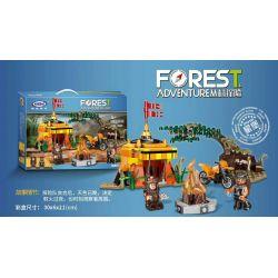 XINGBAO XB-15001 15001 XB15001 Xếp hình kiểu Lego FOREST ADVENTURE Jungle Adventure Jungle Survival Sinh Tồn Trong Rừng 283 khối